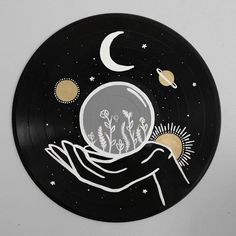 Excited to share this item from my shop: The Starman Record Collection - Hand painted vinyl records/wall decor/painted record/custom wall art drawing The Sun Painted Record - Hand painted vinyl records/wall decor/painted record/custom wall art Aesthetic Painting, Aesthetic Art, Aesthetic Yellow, Art Cd, Record Wall Art, Record Decor, Vinyl Records Decor, Cd Wall Art, Inspiration Art