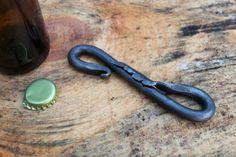 Hand Forged Bottle Opener Steel Beer Bottle Opener by HonestSteel.  Great for a beer lover or a gift for him.