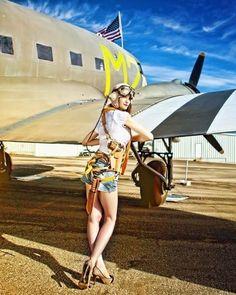 #Aviation #AviationGlamour #pinup #DouglasDC3 #DouglasC47 #Dakota #GooneyBird #Skytrain #propliner