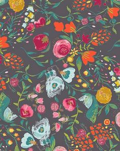 pretty fabric by Bari J. // via Print & Pattern