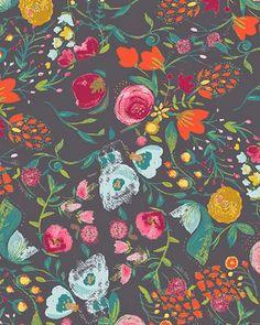 pretty fabric by Bari J. // via Print & Pattern