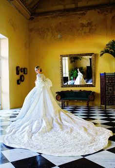 Lauren Davis, Vogue Contributing Editor, Wedding Gown, Olivier Theyskens