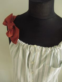 redesign mens button down shirts with a long skirt - Google Search