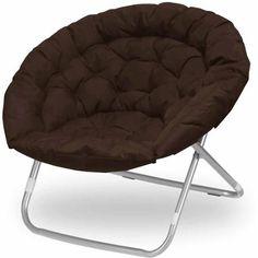 Folding Saucer Chair Dorm Game Room Teen Kids Gamer Pink