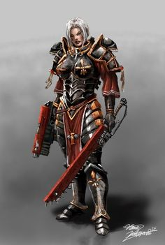 fanart of warhammer sisters of battle. made in photoshop enjoy! The sister of battle Warhammer 40k Rpg, Warhammer Fantasy, Warhammer Figures, Galaxy Saga, 40k Sisters Of Battle, Bolter And Chainsword, Miniaturas Warhammer 40k, Deathwatch, The Grim