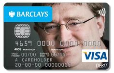 gabe newell visa NOTICE HOW THERE ARE THREE 'H's ON THE CARD.........................................HALF LIFE THREE CONFIRMED