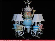 Alice in Wonderland Tea Pot Chandelier on musthavecute.com