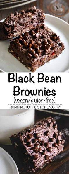 Black bean brownies are a healthy way to indulge. With a fudgy chocolate texture and delicious taste, you'll love this vegan treat! #blackbeanbrownies #veganbrownies #veganblackbeanbrownies