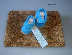 Hand Knitted Baby Cotton CrissCross Bootees  by AniramCreates, £9.99