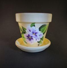 Beautiful Hand-painted Flower Pot