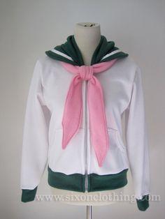 Sailor Jupiter Seifuku Hoodie Jacket by SixOnClothing on Etsy, $60.00