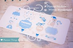 Winter Planner Stickers - Perfect for Kikki-k Planner - Erin Condren - Filofax - Happy Planner by Everythingplanner on Etsy