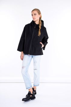 SHOP THE LOOK > #manzetti #mymanzetti #savetheduck #black #jacket #ralphlauren #ripped #jeans #cult #black #boots #woman #fashion #style #ootd #shoponline #rome #store Woman Fashion, Ripped Jeans, Black Boots, Rome, Bell Sleeve Top, Normcore, Ralph Lauren, Jackets, Shopping