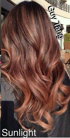 36 Rose Gold Hair Color Ideas to Die For Rose gold highlights. Can't believe I've … Gold Hair Colors, New Hair Colors, Ombre Hair, Balayage Hair, Rose Gold Hair Brunette, Auburn Balayage, Rose Gold Brown Hair Color, Brown Hair Rose Gold Highlights, Copper Rose Gold Hair