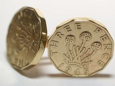 1945 Threepence Coin Cufflinks Mens 70th Birthday Gift  Present Anniversary £14.99