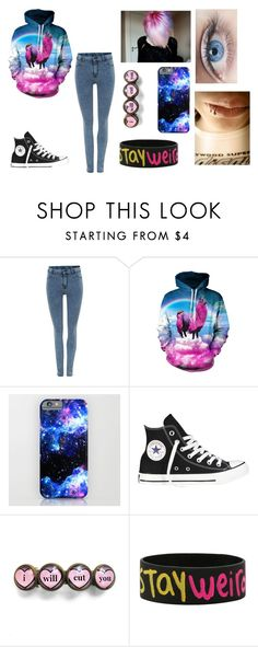 """Stay Weird"" by shyoxic on Polyvore featuring Dr. Denim, Duffy and Converse"