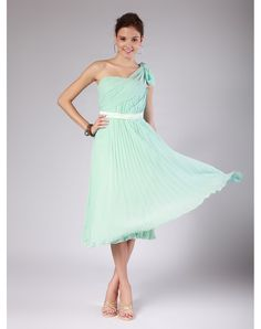I could handle this maybe  not one shoulder...but a mint dress is what is wanted