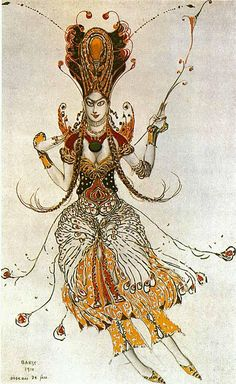Ballet Russes. Firebird costume by Leon Bakst, 1910, Tamara Karsavina