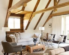 Cool beams and modern classic furniture