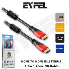 EYFEL HDM11 HDMI TO 1.5m 24K + Kor.Kılıf 1.4 Ver. 3D Gold Kablo indirimli fiyat seçeneği ile Arastamarket.com da.
