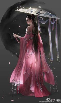 images for anime girl fantasy Fantasy Kunst, 3d Fantasy, Fantasy Women, Fantasy Girl, Fantasy Artwork, Fantasy Books, Geisha Tattoos, Bild Tattoos, Art Asiatique