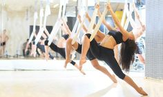 Aerial yoga is not only inversions. It's a great way to deepen the stretch in many yoga poses while increasing strength by adding suspension. Yoga I Aerial Yoga I Meditation Yoga Kundalini, Yoga Meditation, Fitness Del Yoga, Fitness Tips, Easy Fitness, Fitness Motivation, Tai Chi, Chakra, Vive Le Sport