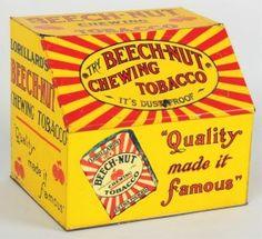 Tin Beech-Nut Chewing tobacco bin