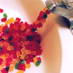 See now dad, its not Kool Aid that comes out of the fossett. Its gummy bear but you were onto something! :) -Family Joke