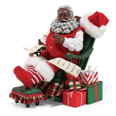 Whether you've been naughty, nice or something in between, this playful St. Nick figurine aims to bring a wave of holiday magic to a shelf or a table while infusing the rest of your space with Christmas cheer. Christmas Store, 1st Christmas, Christmas Cats, Black Christmas Decorations, Santa Decorations, Santa Figurines, Christmas Figurines, Holiday Themes, Christmas Themes