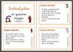 krabbelwiese: Kleine Sachaufgaben-Kartei für Klasse 4