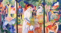 August Macke - BigZoo, Triptych (1913)