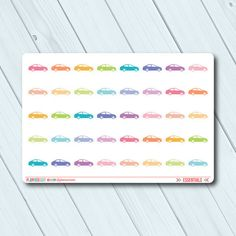 Car Planner Stickers - Icon - Erin Condren Life Planner - Happy Planner - Payment - Vehicle - Maintenance - Gas - Matte or Glossy