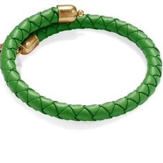 NWT Alex and Ani braided leather wrap Brand new with tag..palm green braided leather wrap with Goldtone metal ends. From a pet and smoke free home. ❌NO TRADES❌ Alex & Ani Jewelry Bracelets