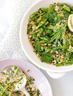 Green Couscous Salad - The Happy Foodie