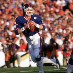 Part II of our Super Bowl history class, going through Super Bowl XXI with a Phil Simms led Giant beating the Broncos to Kurt Warner's Rams in Super Bowl XXXIV and their win over the Titans. New York Giants Football, Football Fans, Football Players, Football Helmets, Super Bowl Xxi, Phil Simms, Beast Of The East, G Man, Sports Images