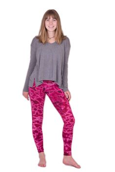 Pink Marble Tie Dye Leggings - Koia Collective