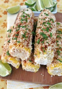 Mexican Street Corn but substitute crema for mayo for sure