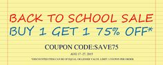 Enjoy your back to school sale time!! Get 75%OFF on your second order. see :http://www.abhair.com/