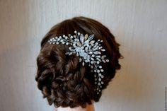 Купить свадебное украшение в прическу - белый, украшение для волос, украшение для невесты, украшение в прическу
