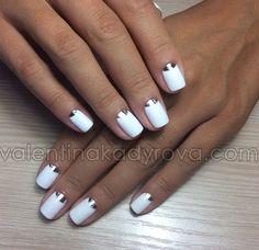 Silver moon manicure
