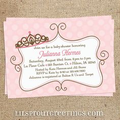 Pink+Princess+Baby+Shower+Invitation+by+lilsproutgreetings+on+Etsy,+$16.00