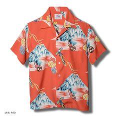 "Duke Kahanamoku Special Edition ""Mt FUJI & LUCKY EGGPLANT"" Vintage Hawaiian Shirts, Vintage Shirts, Vintage Outfits, Tailored Shirts, Casual Shirts, Funky Fashion, Mens Fashion, Hawaii Style, Floral Print Shirt"
