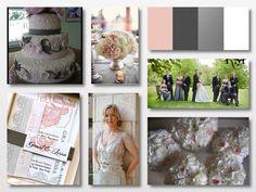Blush, white, black and grey - wedding design inspiration  www.WeddingGirl.ca