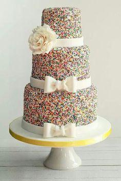sprinkles on a wedding cake so much fun