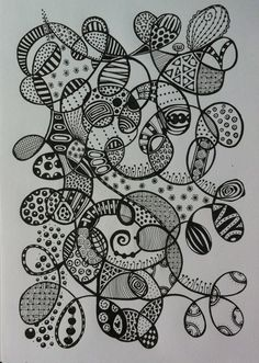 fill the page with a line then zentangle