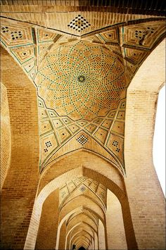 TheVakil Mosque(Persian:مسجد وکیل -Masjed-e Vakil), Shiraz, Iran is a beautiful mosque built in mid 18th century by Karim Khan, Regent (Vakil) and the founder of Zand Dynasty. The entrance gates as well as the interior of the mosque are decorated with coloured tiles in beautiful floral patterns.