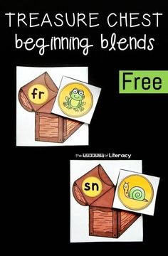 Such a fun reading activity or literacy center for Kindergarteners and First Graders! Free beginning blends match up.