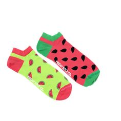 Men's Watermelon Mens Ankle Socks | Mismatched by Design | Friday Sock Co. Ethically made in Italy. Click the link to see more designs!