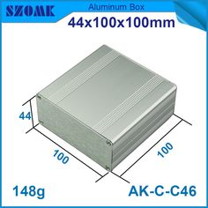 1 piece szomk electrical aluminum instrument enclosure project case for pcb broad 44*100*100mm