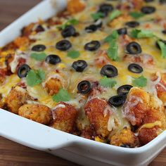 Tater Tot Taco Bake--I'll be trying this out at home this weekend and if its good moving it on to the school menu! Looks great!